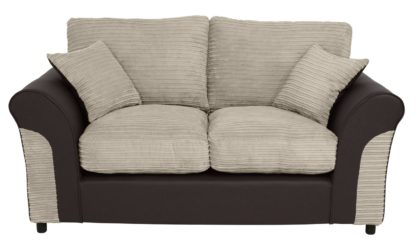 An Image of Argos Home Harry 2 Seater Fabric Sofa - Natural