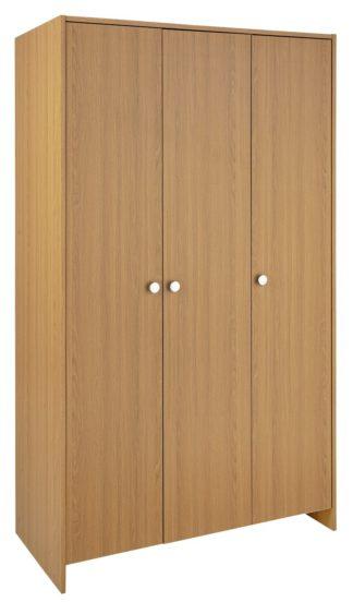 An Image of Argos Home Seville 3 Door Wardrobe - Oak Effect