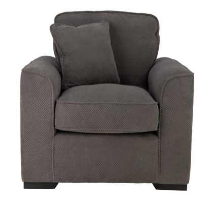 An Image of Habitat Carson Fabric Armchair - Grey