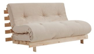 An Image of Argos Home Tosa 2 Seater Futon Sofa Bed - Natural