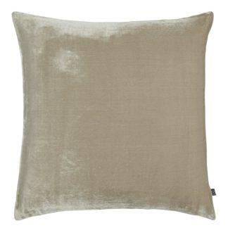 An Image of Habitat Regency 58 x 58cm Velvet Cushion - Taupe