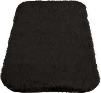 An Image of Homemaker Faux Fur Oblong Rug - 75x120cm - Black