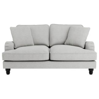 An Image of Beatrice Boucle 2 Seater Sofa Light Grey