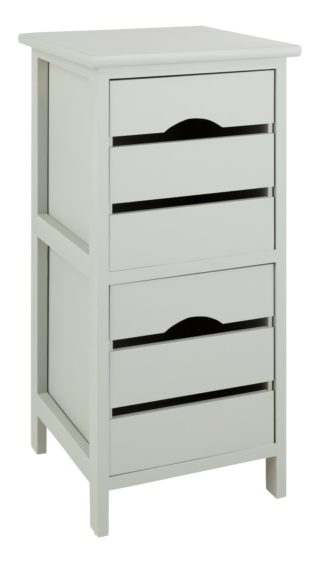 An Image of Argos Home 2 Drawer Wooden Storage Unit - Grey