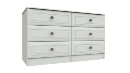 An Image of Rendlesham 3 + 3 Drawer Chest - White