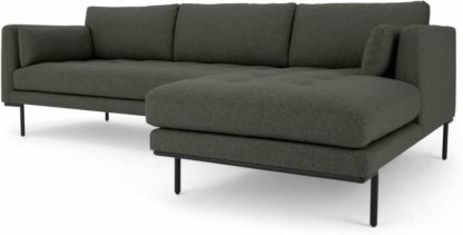 An Image of Harlow Right Hand Facing Chaise End Corner Sofa, Hudson Grey