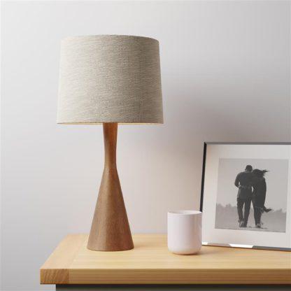 An Image of Nala Mango Wood Table Lamp Brown
