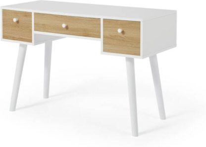 An Image of Larsen Desk, Oak Effect & White