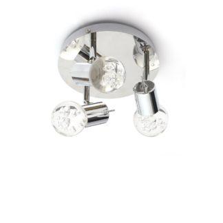 An Image of Spa Bubble LED 3 Light Bathroom Ceiling Light Chrome