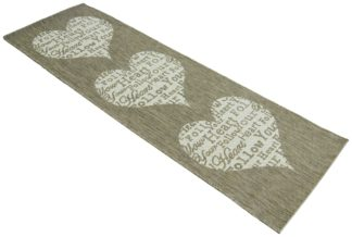 An Image of Follow Your Heart Runner - 67x300cm - Taupe.