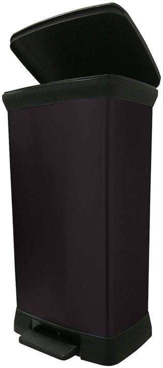 An Image of Curver 50 Litre Deco Pedal Bin - Black