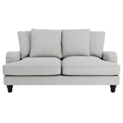 An Image of Beatrice Boucle Scatter Back 2 Seater Sofa Light Grey