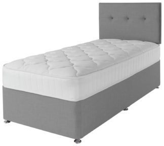 An Image of Argos Home Dalham 800 Pocket Memory Single Divan - Grey
