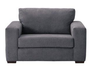 An Image of Habitat Eton Fabric Cuddle Chair - Charcoal