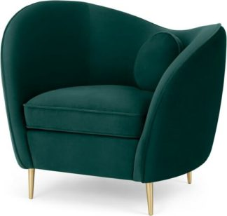 An Image of Kooper Accent Armchair, Seafoam Blue Velvet