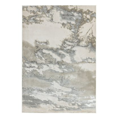 An Image of Asiatic Aurora Marble Rectangle Rug - 80x150cm - Grey