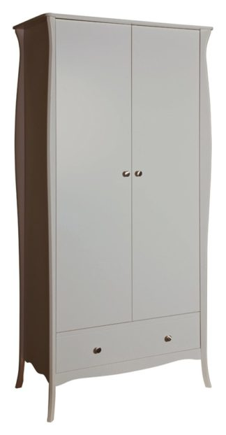 An Image of Amelie 2 Door 1 Drawer Wardrobe - Grey