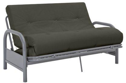An Image of Argos Home Mexico 2 Seater Futon Sofa Bed - Grey