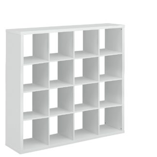 An Image of Habitat Squares Plus 16 Cube Storage Unit - White Gloss