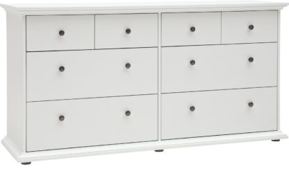 An Image of Habitat Heathland 4+4 Drw Wide Chest of Drawers - White