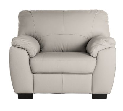 An Image of Argos Home Milano Leather Armchair - Light Grey