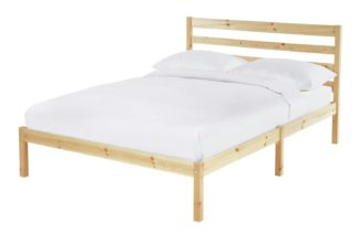An Image of Habitat Kaycie Small Double Bed Frame - Pine