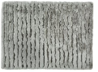 An Image of Origins Carved Glamour Rug - 120x170cm - Silver