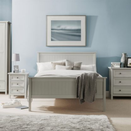 An Image of Maine Wooden Bed Frame Grey