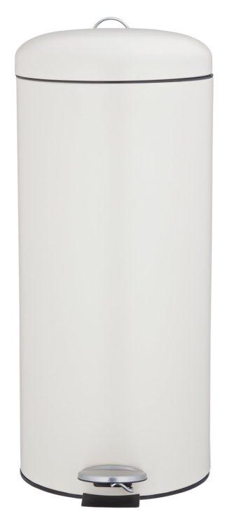An Image of Argos Home 30L Round Kitchen Pedal Bin - Matt Cream
