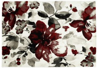 An Image of Origins Watercolour Rug - 120x170cm - Red