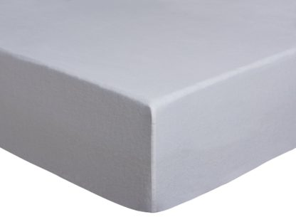 An Image of Argos Home Brushed Cotton 28cm Fitted Sheet - Double