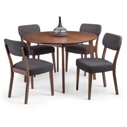 An Image of Farringdon Dining Table with 4 Chairs Brown