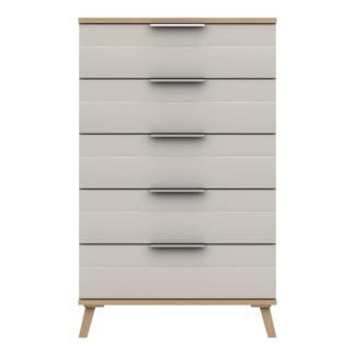An Image of Murray 5 Drawer Chest Off-White