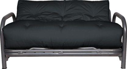 An Image of Argos Home Mexico 2 Seater Futon Sofa Bed - Black