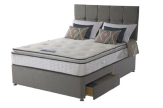 An Image of Sealy 1400 Pocket Memory Pillowtop 2 Drawer Double Divan