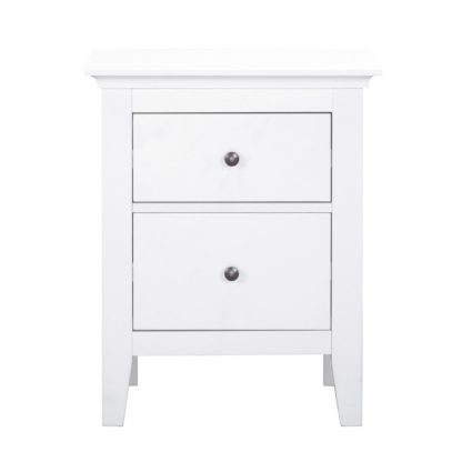 An Image of Lynton White Bedside Table White