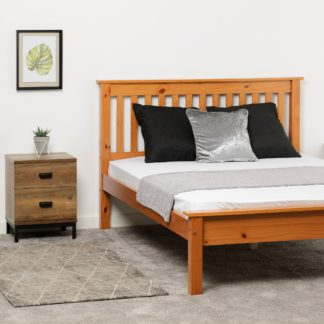 An Image of Monaco Pine Low Foot End Bed Frame Pine