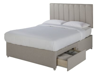 An Image of Sleepeezee Gel 1000 2 Drawer Kingsize Divan Set