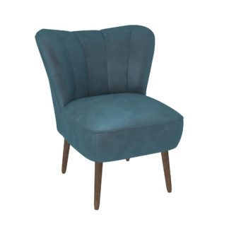 An Image of Abby Velvet Cocktail Chair - Pacific Blue