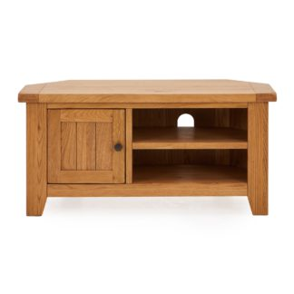 An Image of Oakville Corner TV Stand Brown