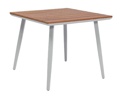 An Image of Argos Home Polywood Wood Effect 4 Seater Table