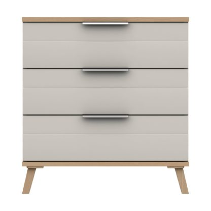 An Image of Murray 3 Drawer Chest Off-White