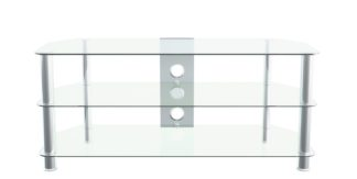 An Image of AVF Up To 55 Inch Glass TV Stand - Clear