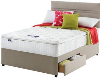 An Image of Silentnight Stanfield Pillowtop 2 Drawer Divan - Double