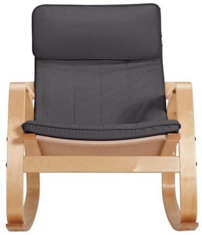 An Image of Argos Home Fabric Rocking Chair - Charcoal