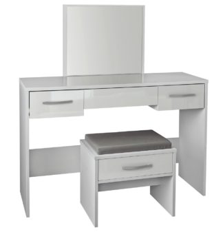 An Image of Argos Home Hallingford Dressing Table - Grey Gloss