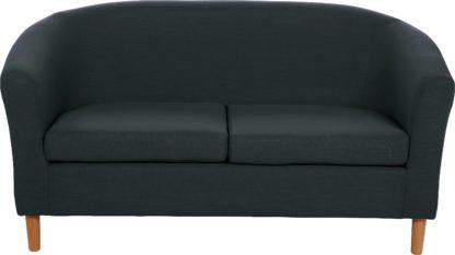 An Image of Habitat 2 Seater Fabric Tub Sofa - Red