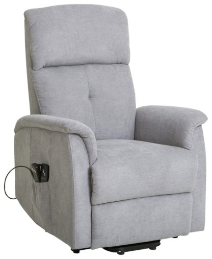 An Image of Argos Home Margo Fabric Rise & Recline Chair - Grey