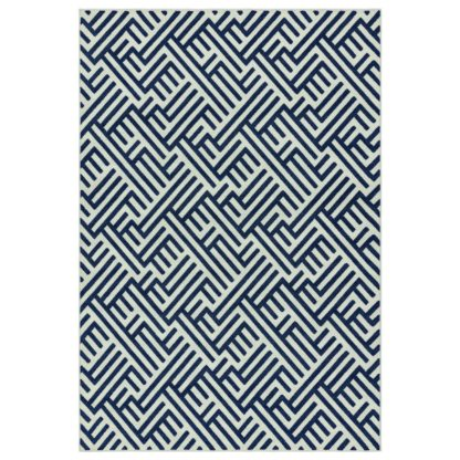 An Image of Asiatic Antibes In & Outdoor Geometric Rug -120x170cm - Blue