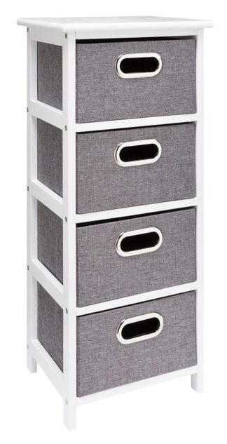 An Image of Argos Home 4 Drawer Bathroom Storage Unit - Grey